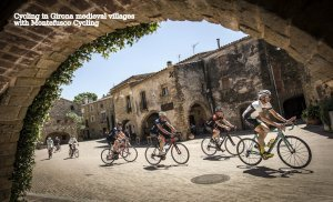 Cycling in medieval villages (Girona)