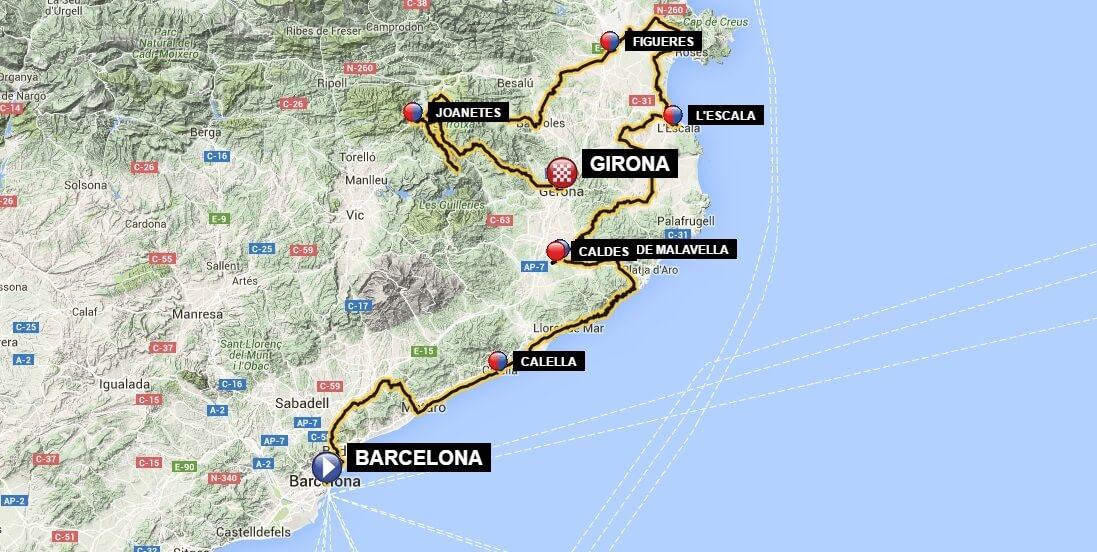 Road Cycling Barcelona Girona
