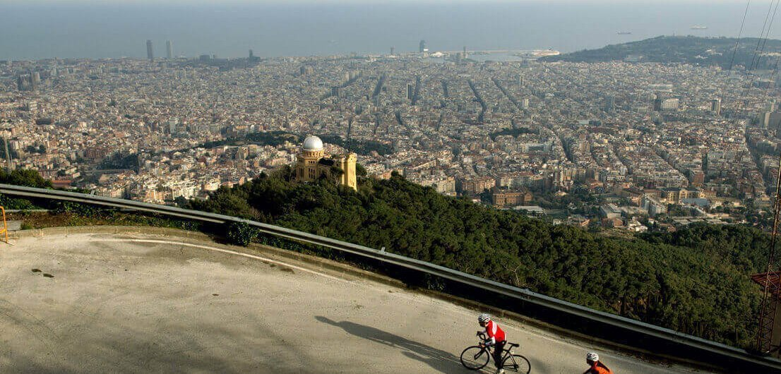 The Hills Around The City tour of Barcelona By Road Bike