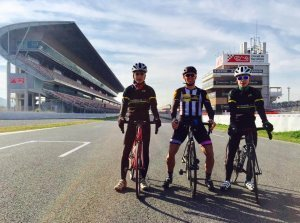 Circuit de Barcelona Formula 1 track. Open to cyclists every tuesday and thursday
