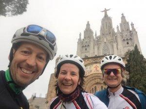 Cycling around Barcelona Tinidabo