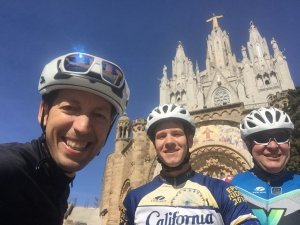 Road Cycling Barcelona, today we had Mark and Kyle (father and son) doing our Barcelona hills Tour.