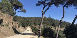 Gravel cycling in Barcelona