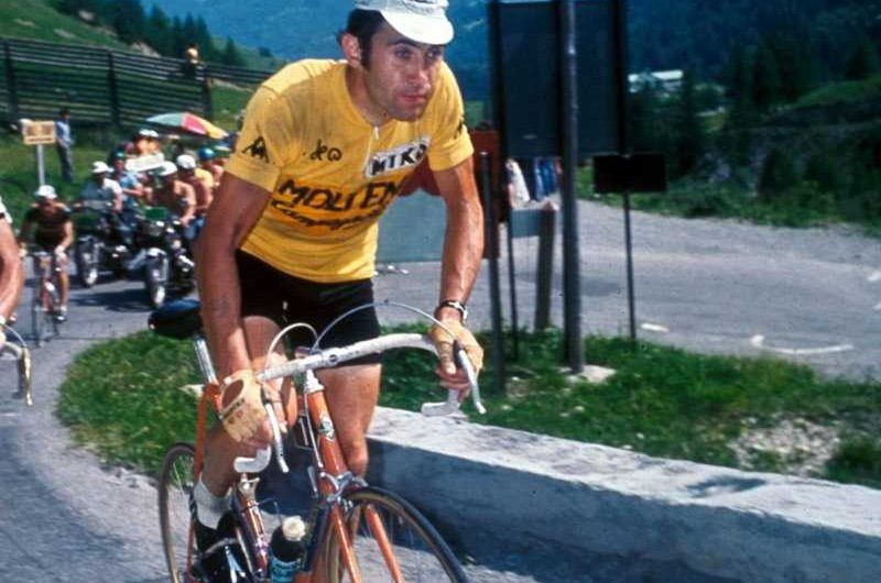 Merckx in yellow jersey